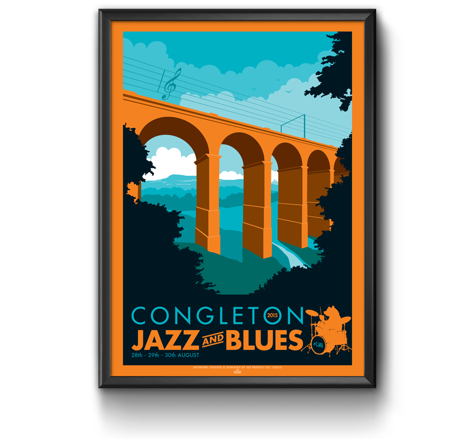 Congleton Jazz and Blues Poster Design by AD Profile