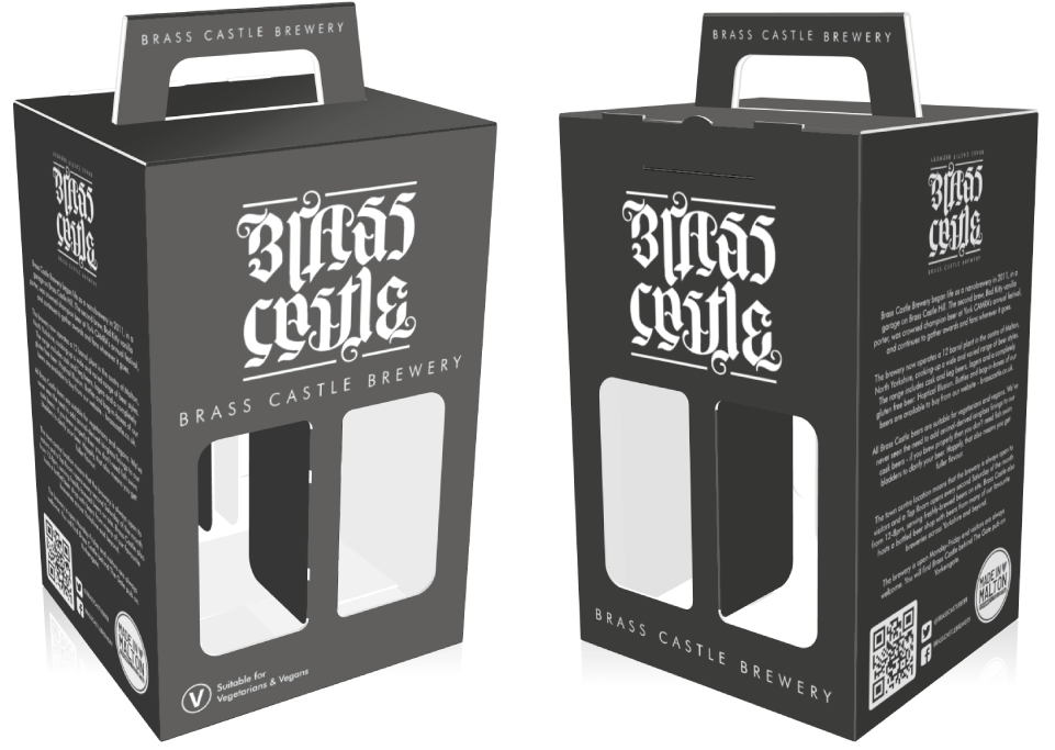 Brass Castle Brewery 4pk Beer Box Artwork Layout by AD Profile
