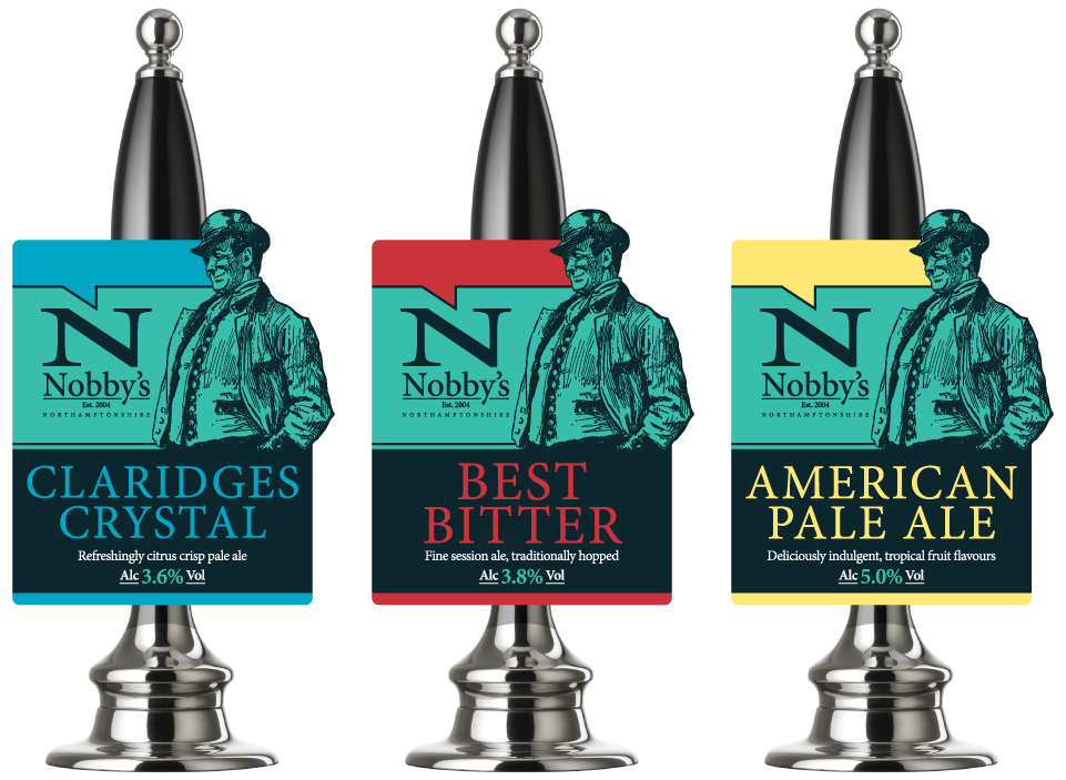 Nobbys Brewery Pump Clip Artwork Graphic Design by AD Profile
