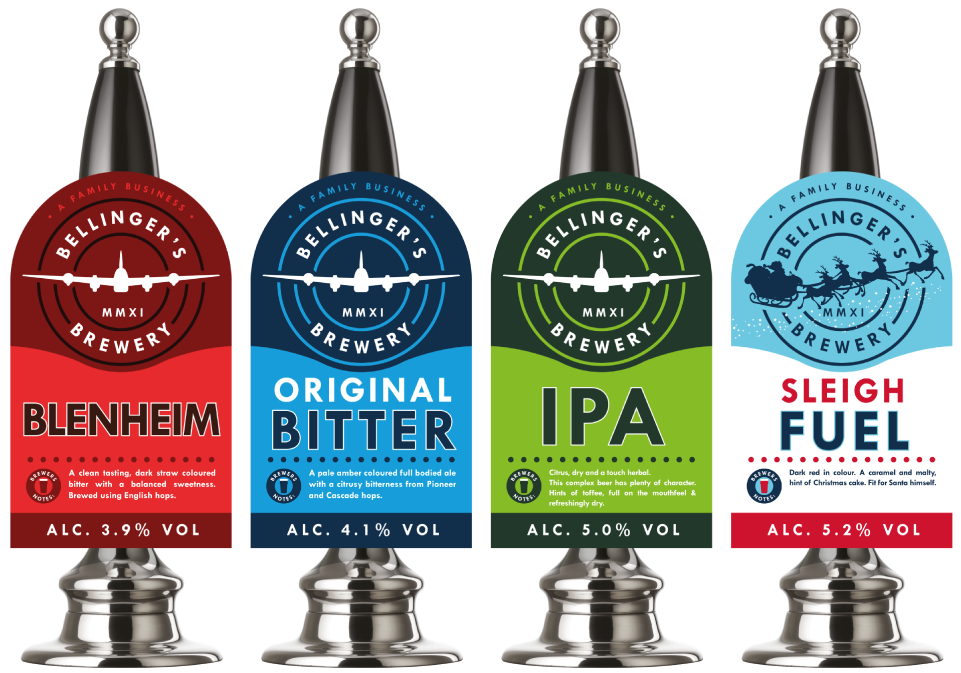 Bellingers Brewery pump clip design by Cheshire based AD Profile