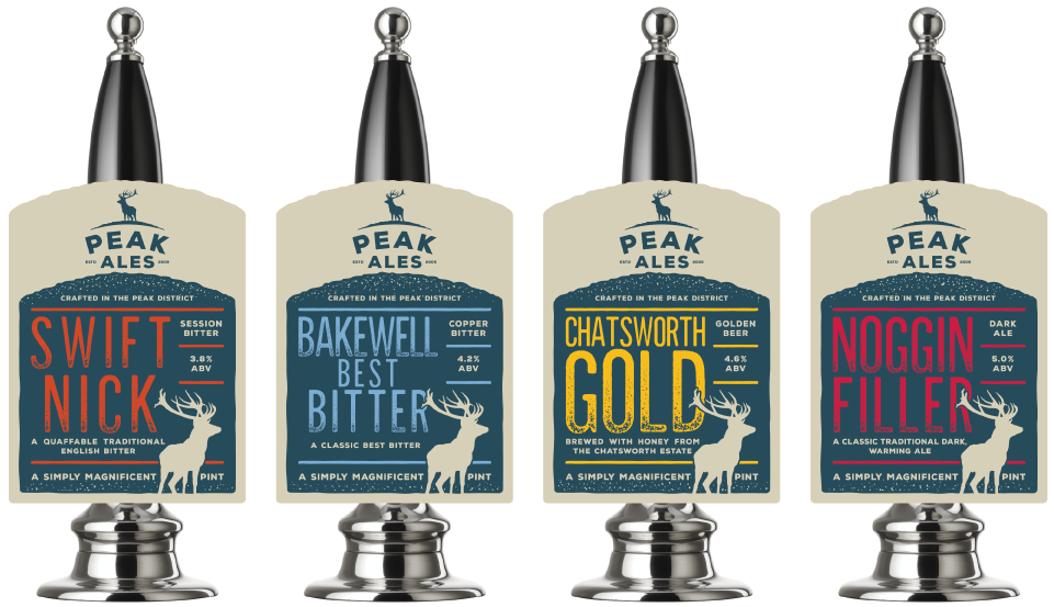 Peak Ales pump clip design by Cheshire based AD Profile