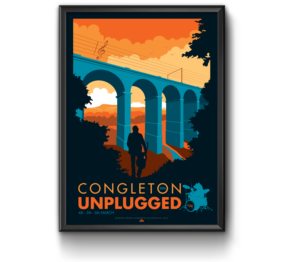 Congleton Unplugged 2016 Poster Design by AD Profile