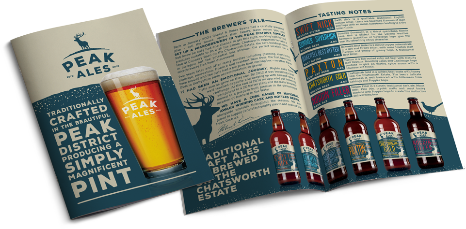 Peak Ales Brochure Design by AD Profile