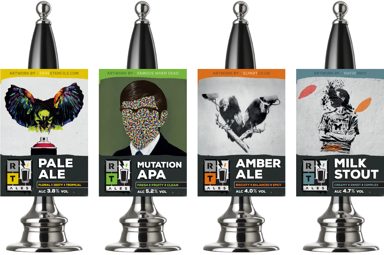 RT Ales Pump Clips by AD Profile
