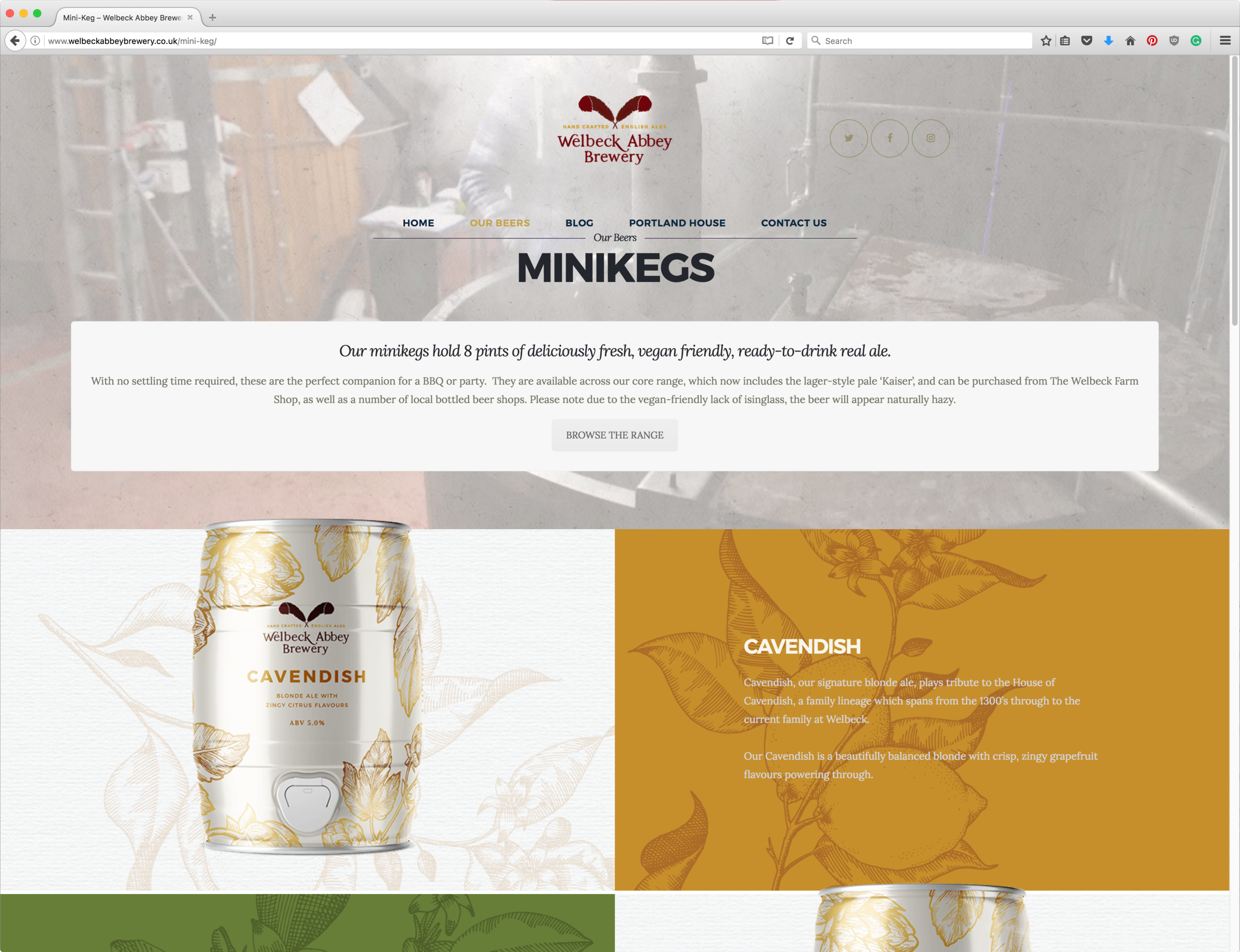 Welbeck Abbey Brewery Website Design by AD Profile