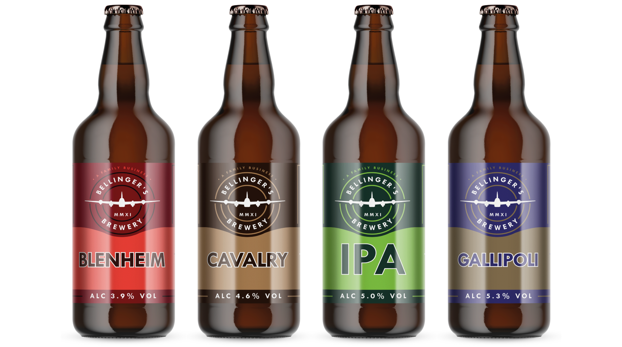 Bellingers Brewery bottle label design by Cheshire based AD Profile