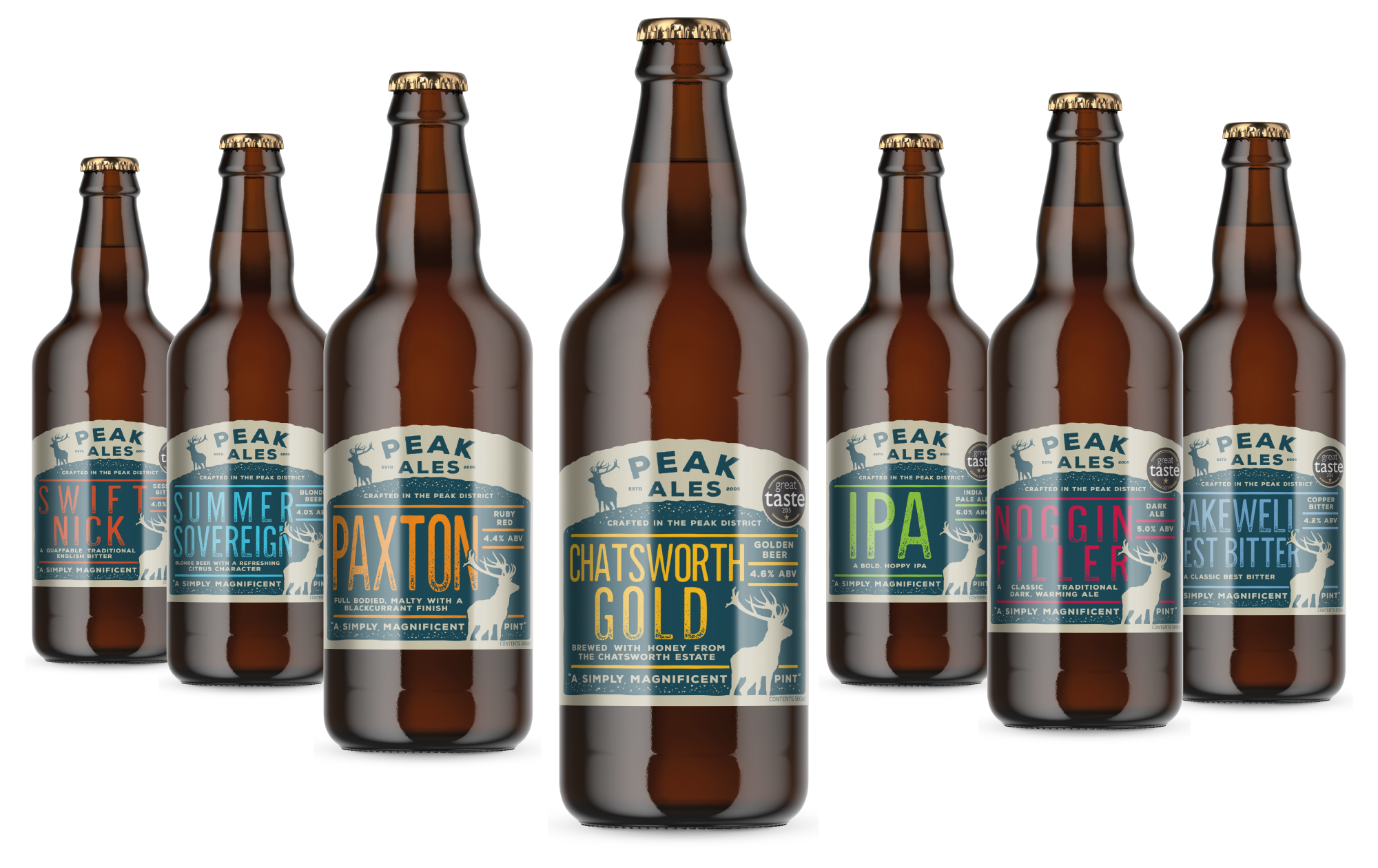 Peak Ales bottle label designs by AD Profile