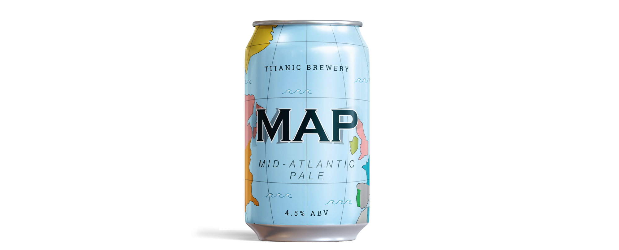 Titanic Brewery MAP - Mid Atlantic Pale design by AD Profile