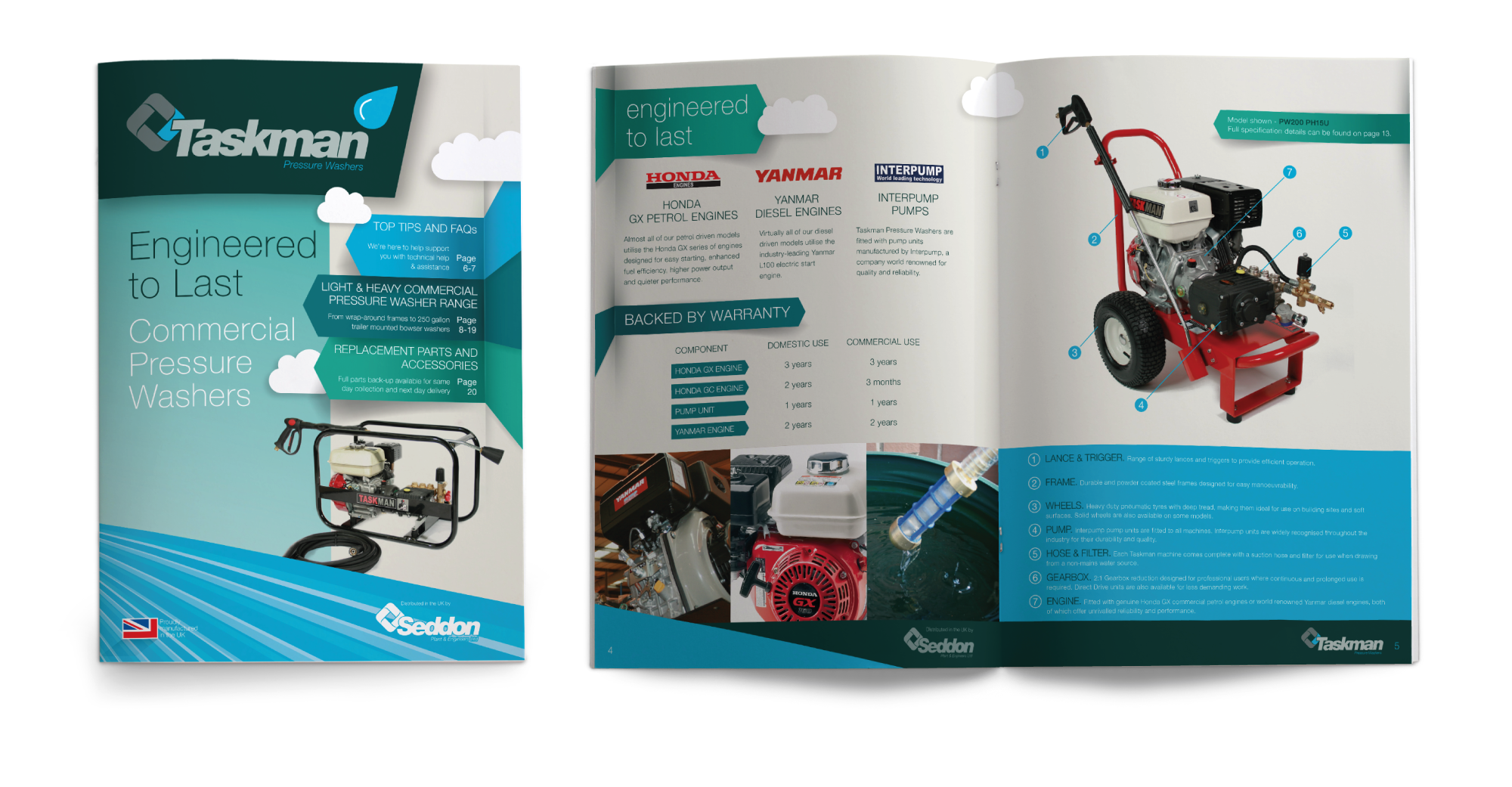 Seddon Taskman Brochures Pressure Washers design by AD Profile