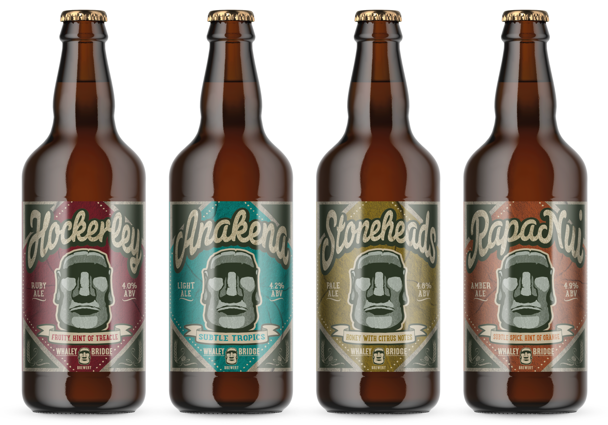 Whaley Bridge Bottle Label Desgins by AD Profile