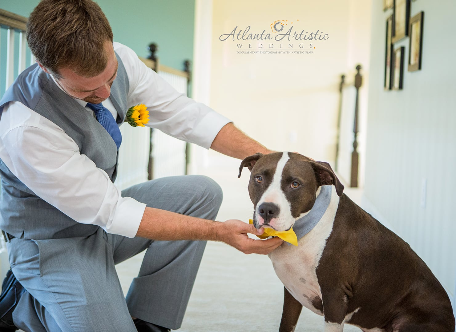 Dog is best man at wedding - by Atlanta Wedding Photographers at  www.atlantaartisticweddings.com