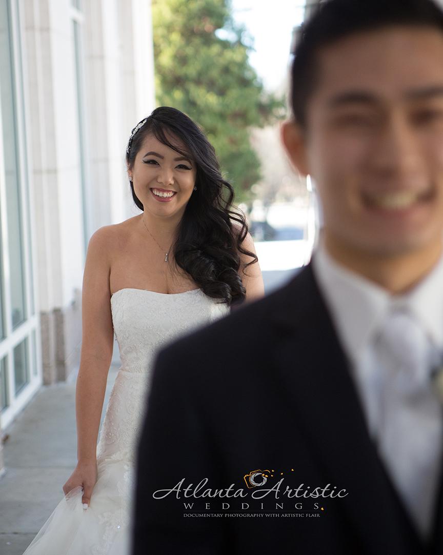 First Look Wedding Photography by David Diener at www.AtlantaArtisticWeddings.com