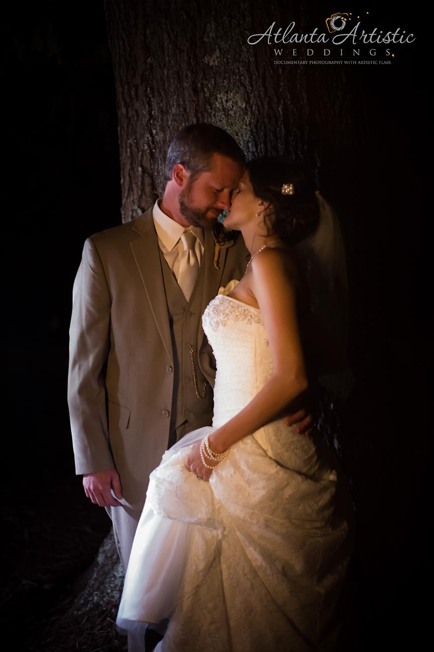 Atlanta Wedding Photographer  shoots weddings at night
