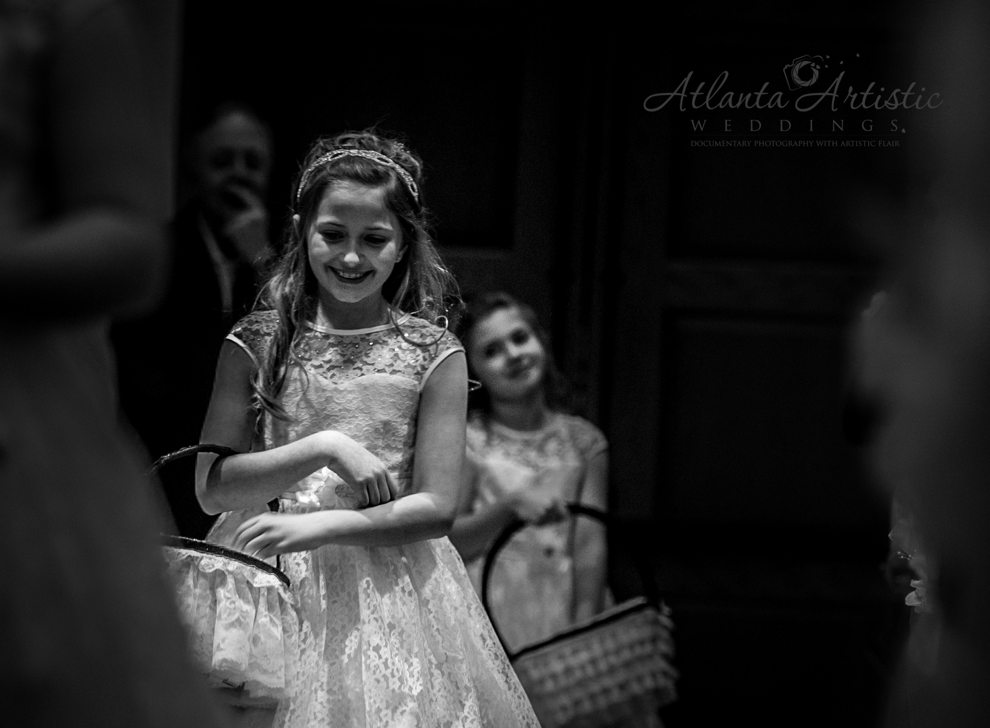 Flower Girls getting ready to go down the isle
