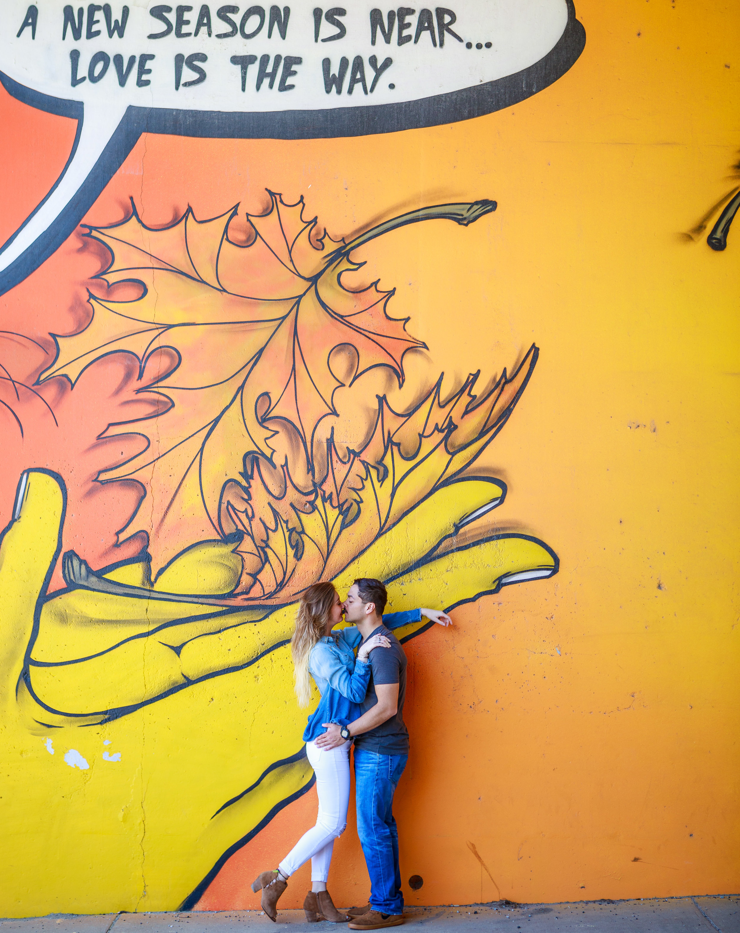 Fun photos by the  living walls of Atlanta