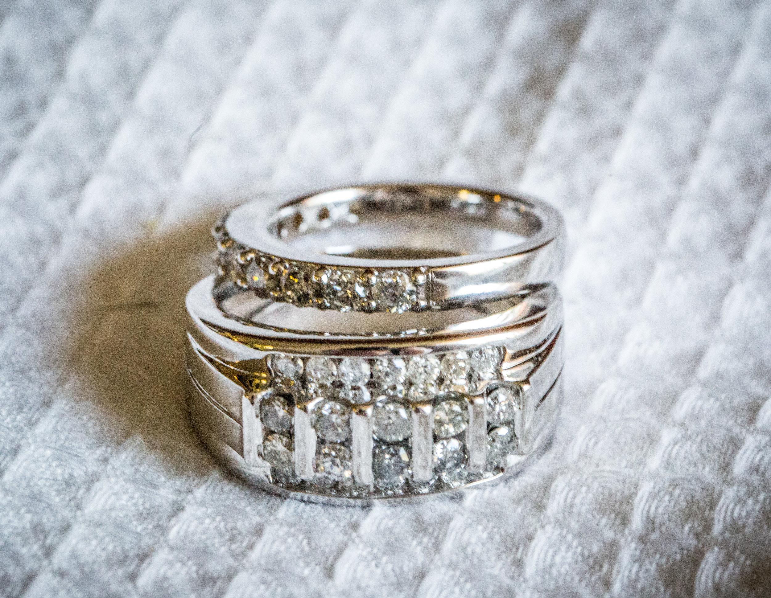 White Gold Classic Wedding Rings photo by the  Atlanta wedding photographers  at Atlanta Artistic Weddings