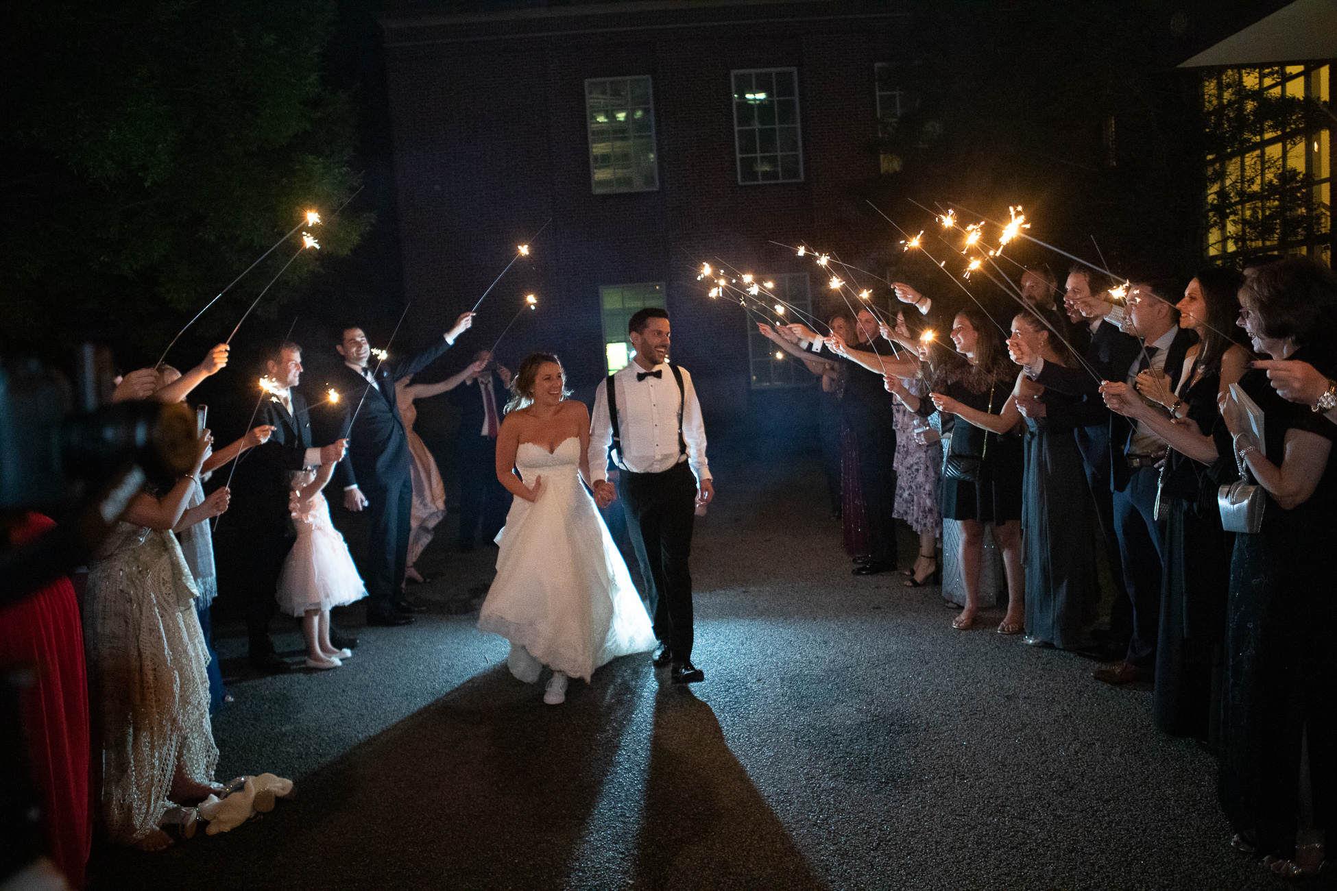 Sparkler Exit - Photography by the Atlanta Wedding photographers at AtlantaArtisticWeddings