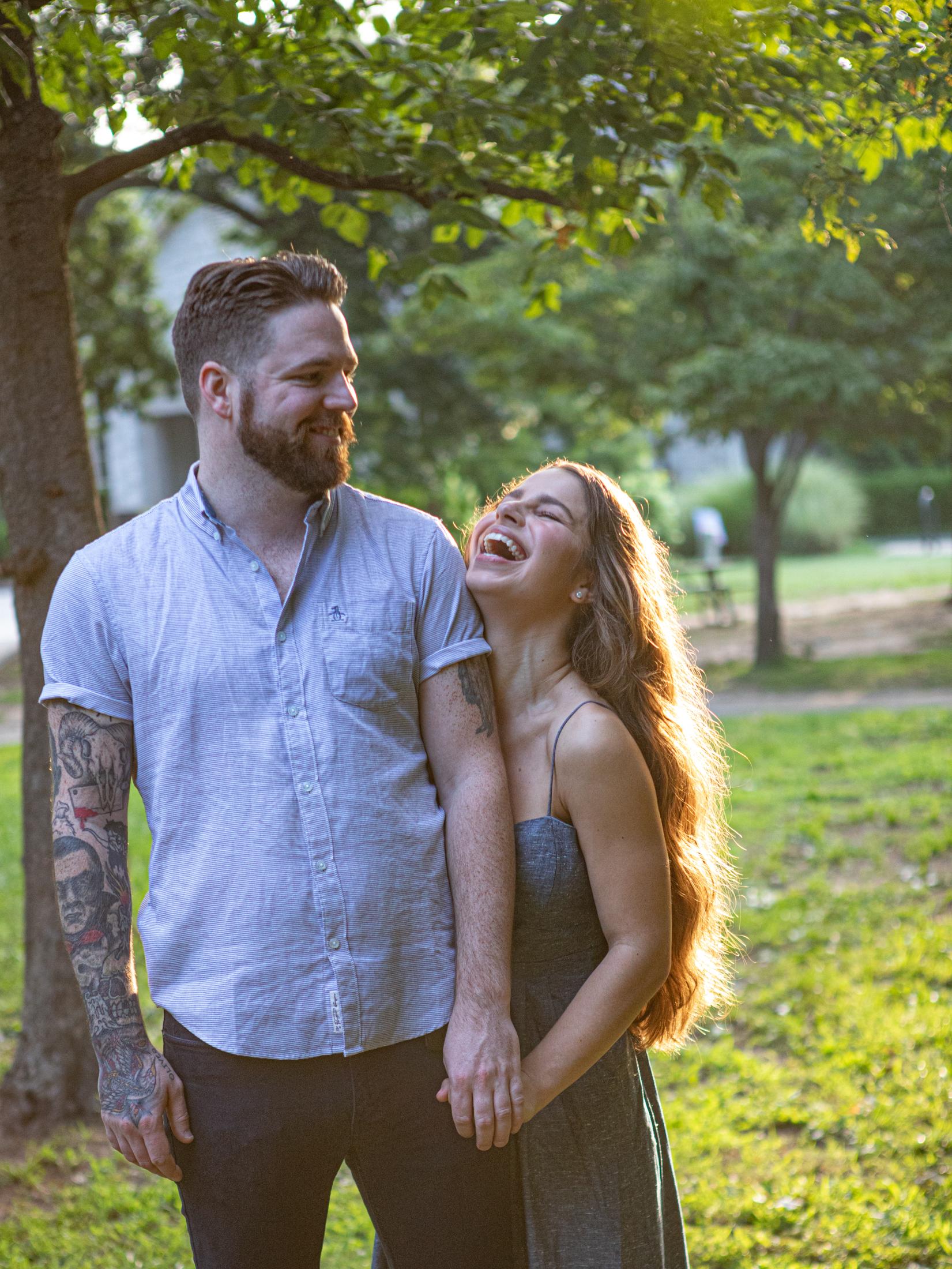 Engagement photography by the Atlanta wedding photographers at AtlatnaArtisticWeddings
