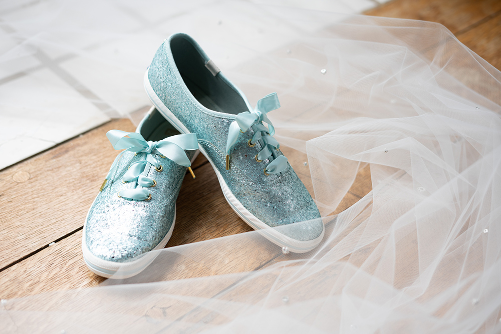 Detail of Bridal Shoes by the Atlanta Wedding Photographers at AtlantaArtisticWeddings