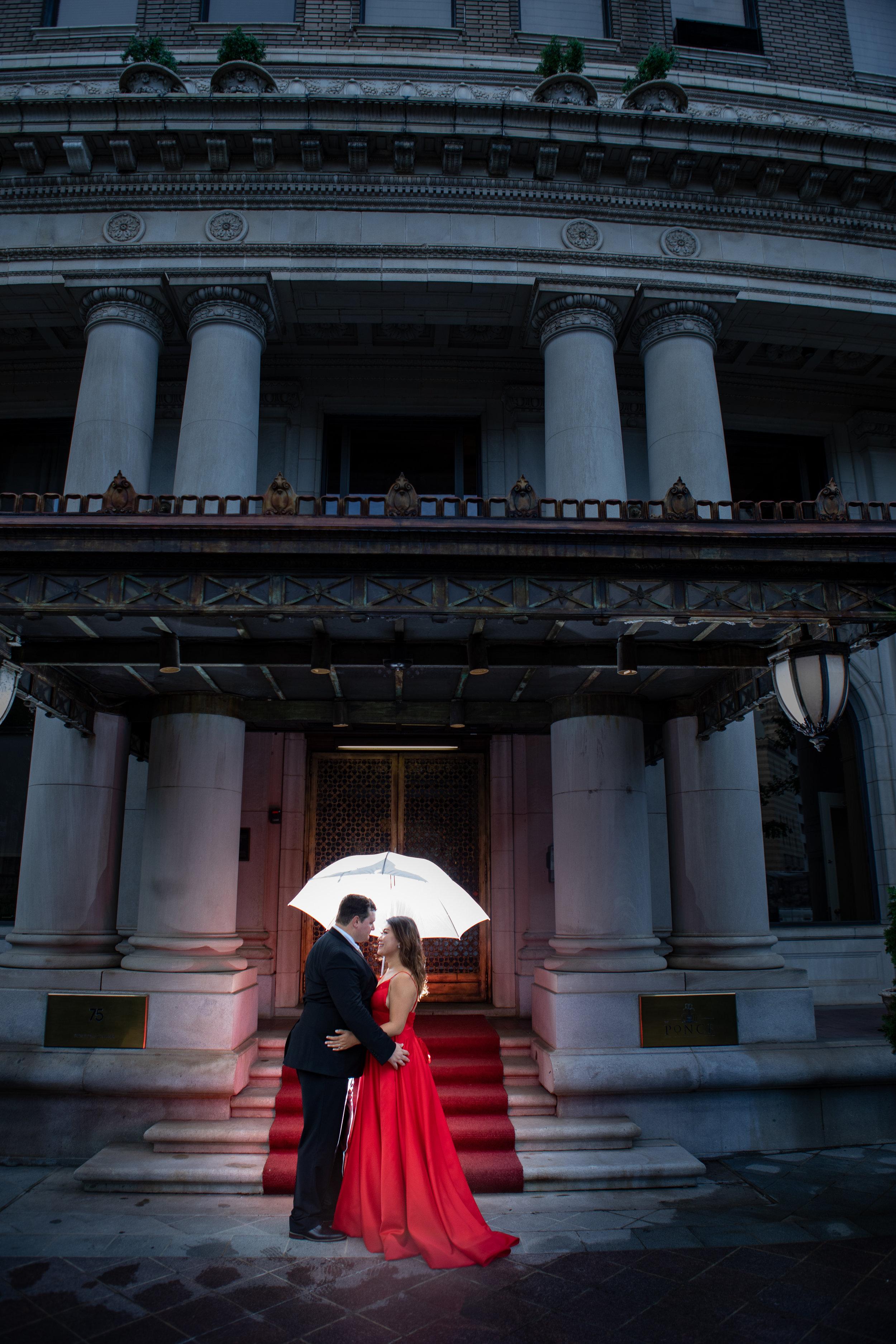 The Historic Ponce Condominiums captured by the Atlanta wedding photographers at ww.AtlantaAritsicWeddings.com