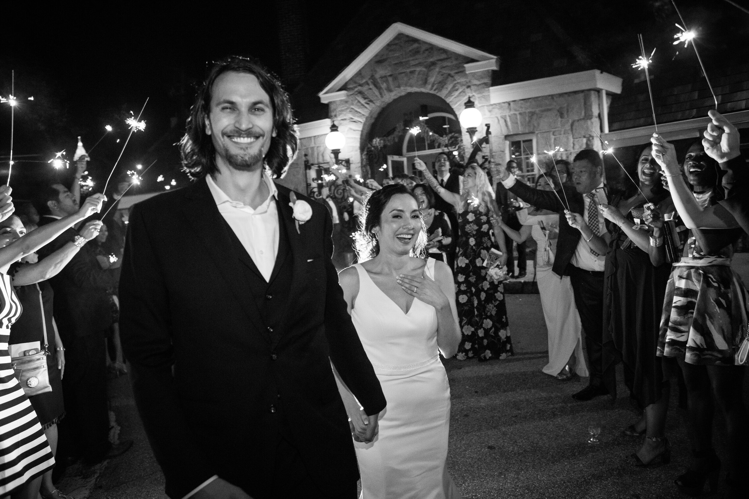 Classic black and white photo journalistic wedding photography capture by the Atlanta Wedding Photographers at AtlantaArtisticWeddings