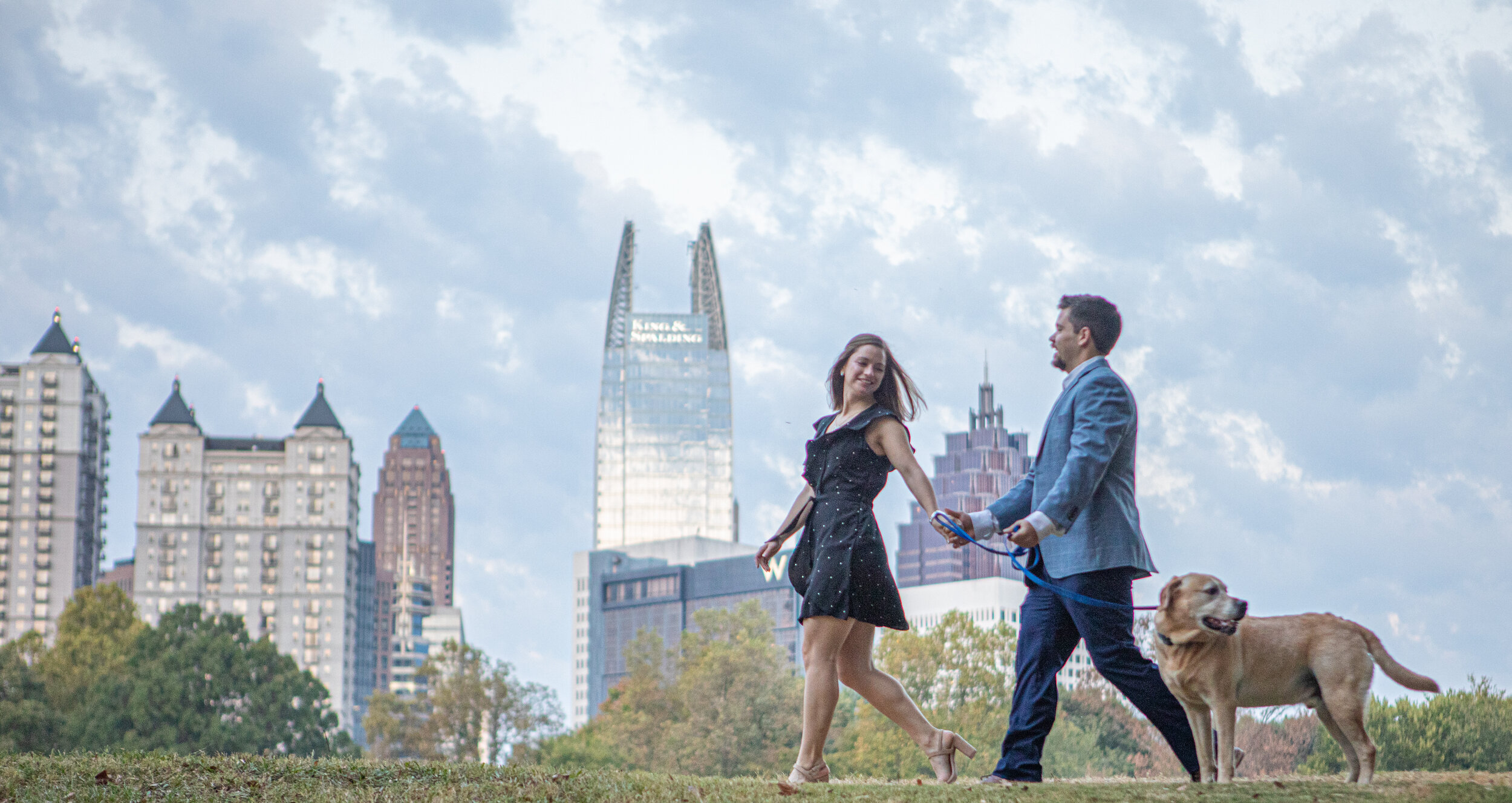 Engagement Photo by the Atlanta Wedding Photographers at AtlantaArtsiticWeddings in Piedmont Park