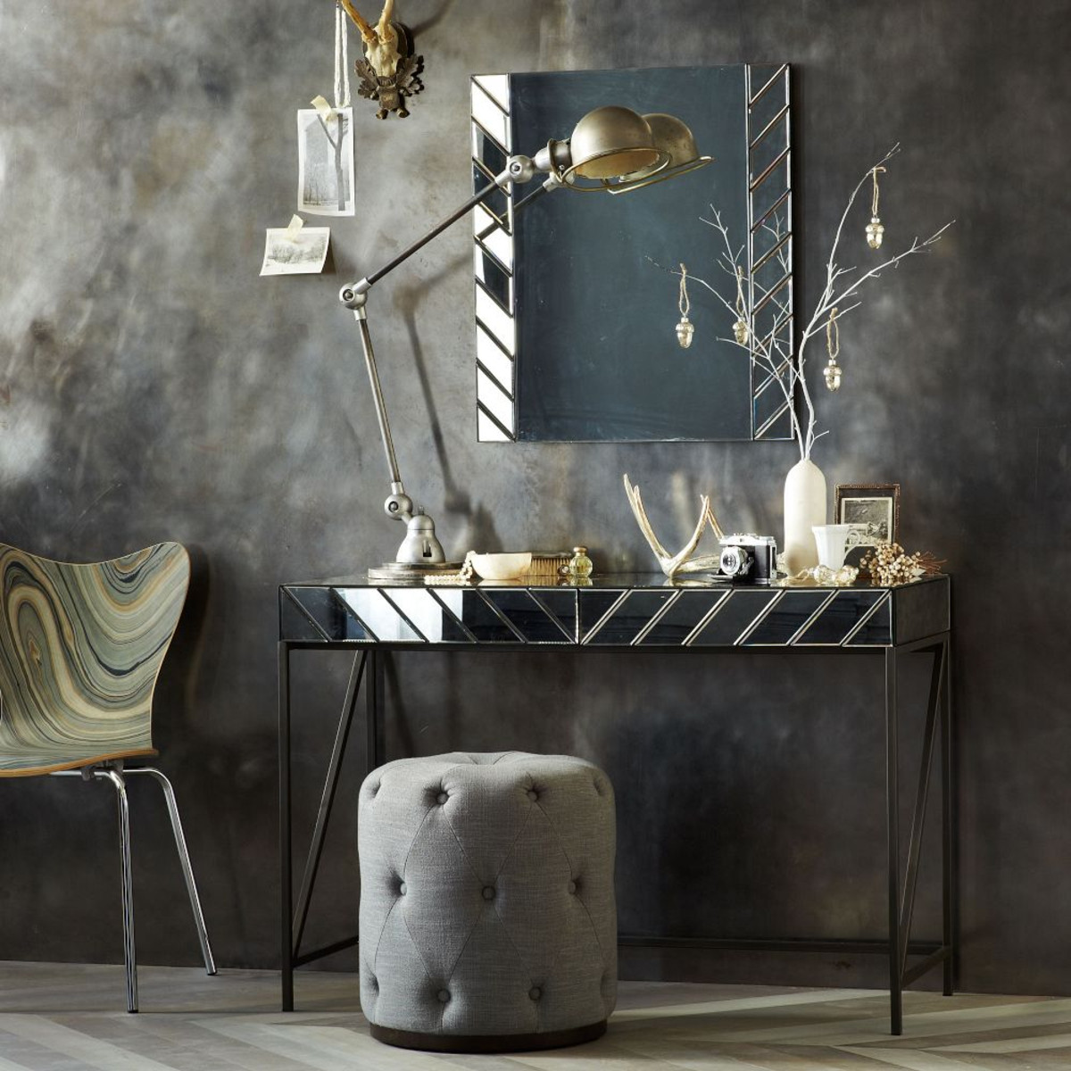 Herringbone mirrored dressing table from West Elm £394.95