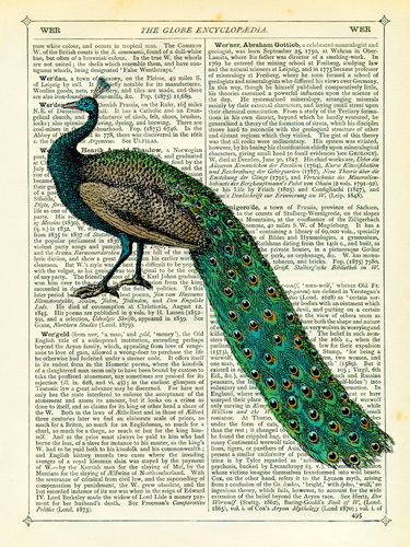 Peacock print   Marion McConagie    . Images courtesy of  easyart.com
