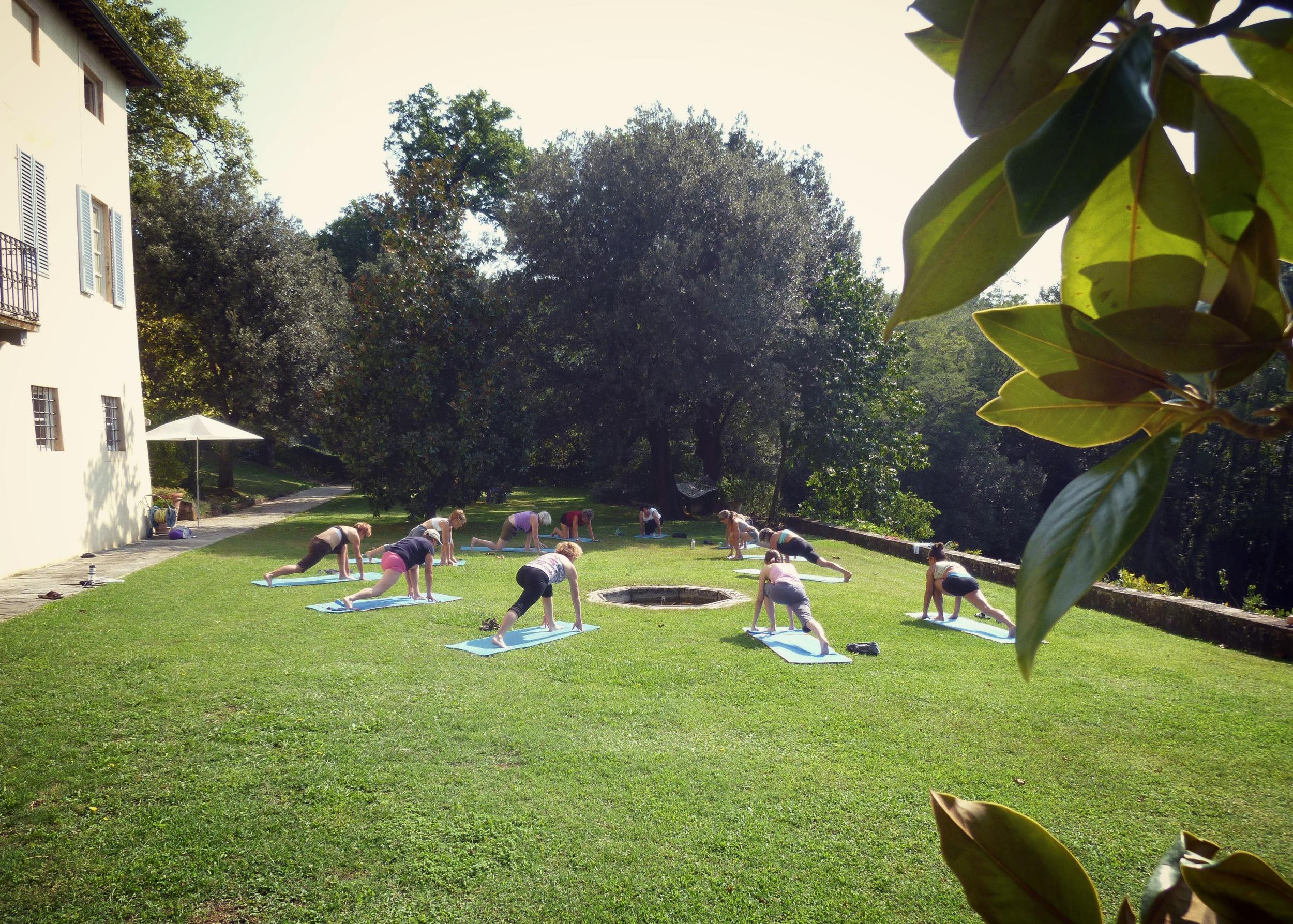 Tuscany Yoga Retreat  - Yoga Session - La Dolce Vigna Wine Tours