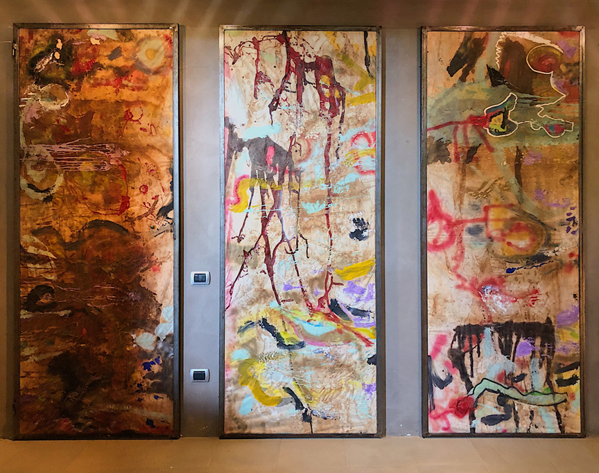 Winemaker Massimo Martinelli's abstract artwork