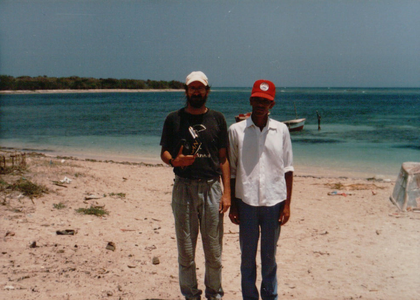 Interviewing fisherman in northern coastal community of Buen Hombre, Dominican Republic  (Photography by Richard W. Stoffle)