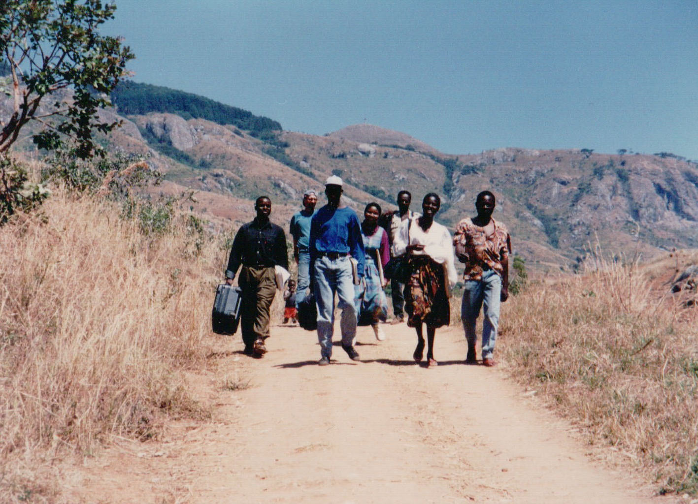 Rapid Appraisal team, Zomba watershed study area, Malawi  (Photography by Barron Orr)