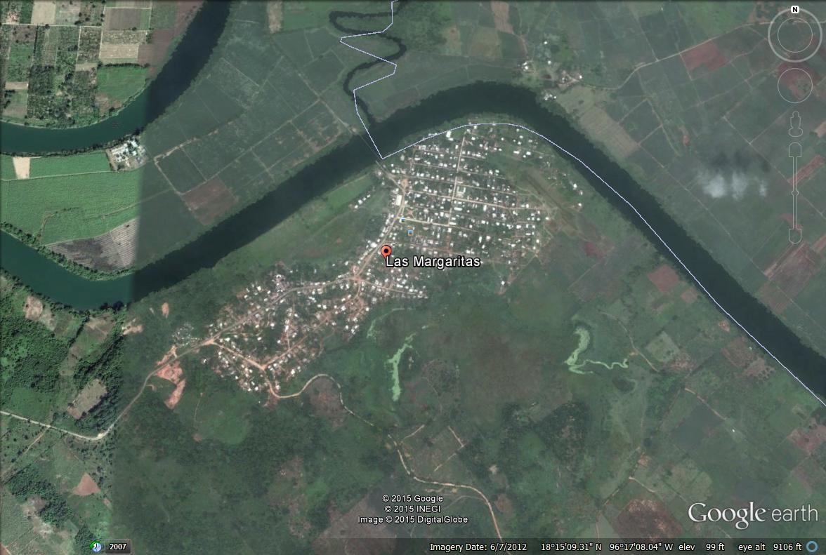 Satellite View of Mazatec Community of Las Margaritas