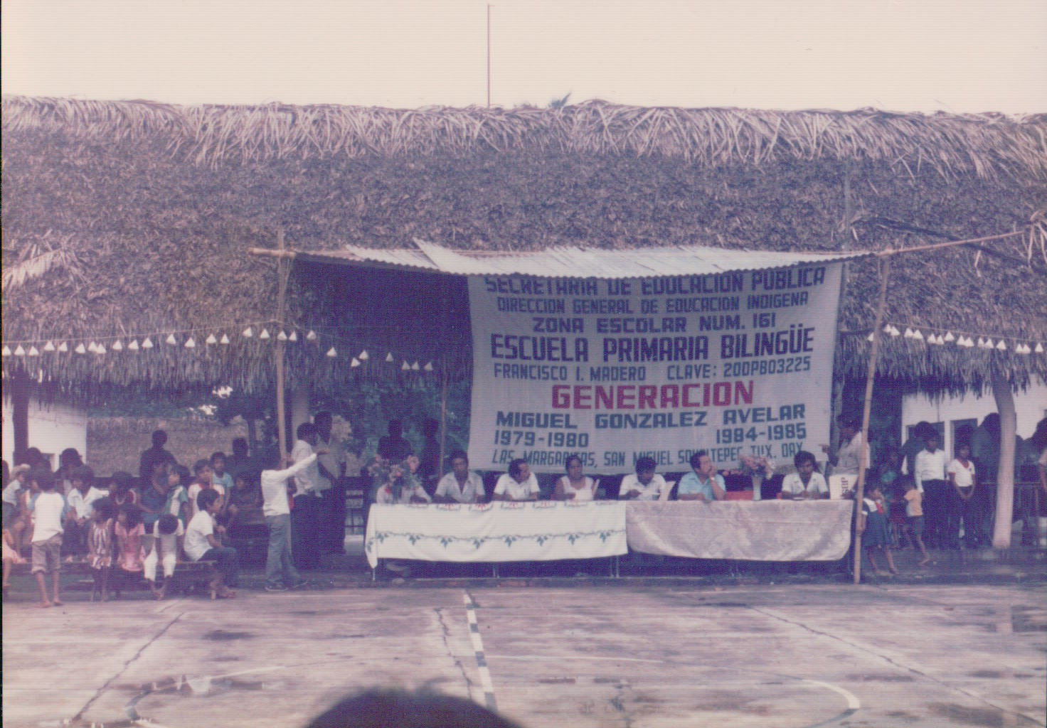 Bilingual Primary School Graduation, Las Margaritas, 1985  (Photo Credit: Allison Bingham)