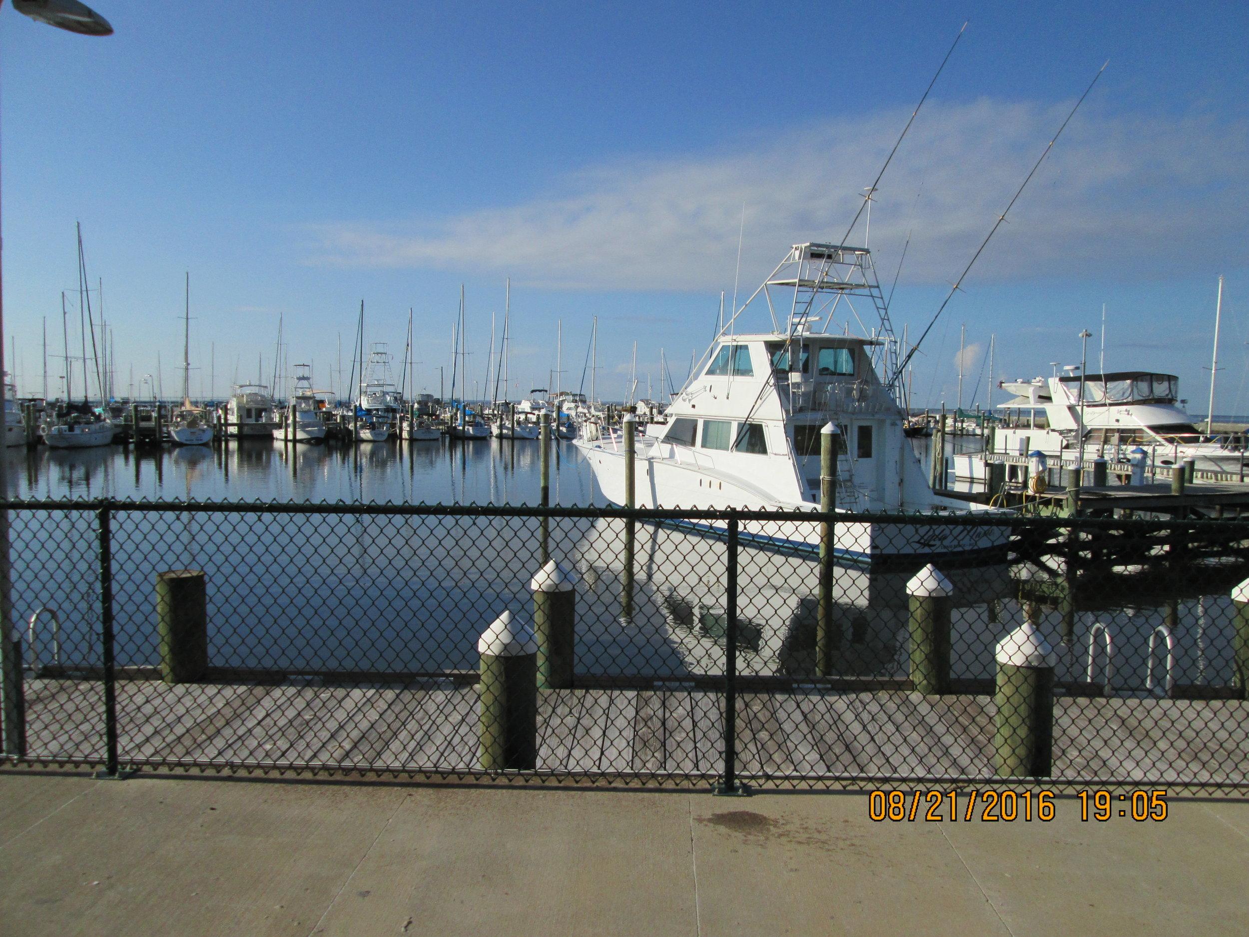 Commercial and charter fleet, Long Beach marina, MS.