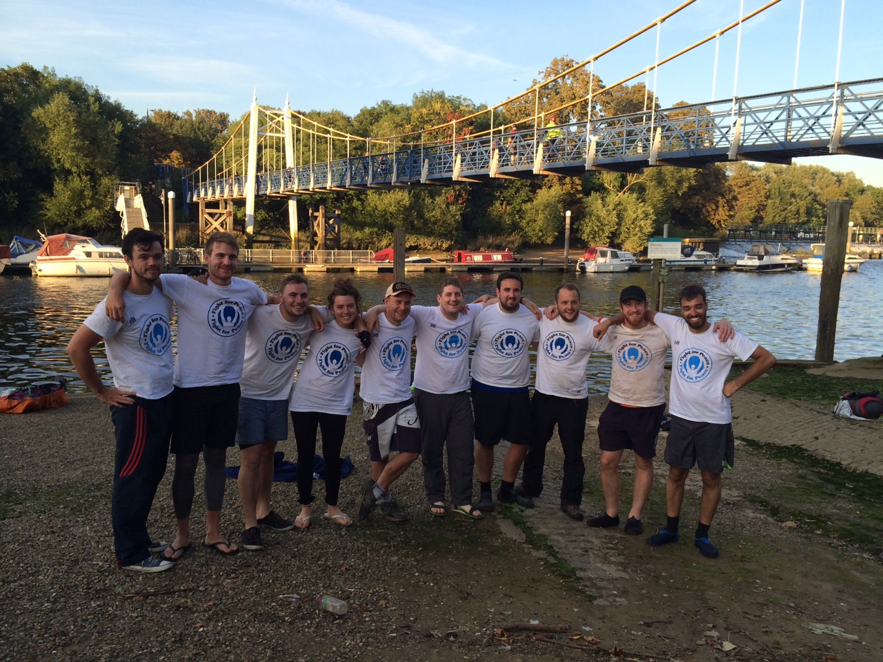 Summer '14:  We raised funds for charity partner of the year Fight For Peace by canoeing the entire length of the Thames