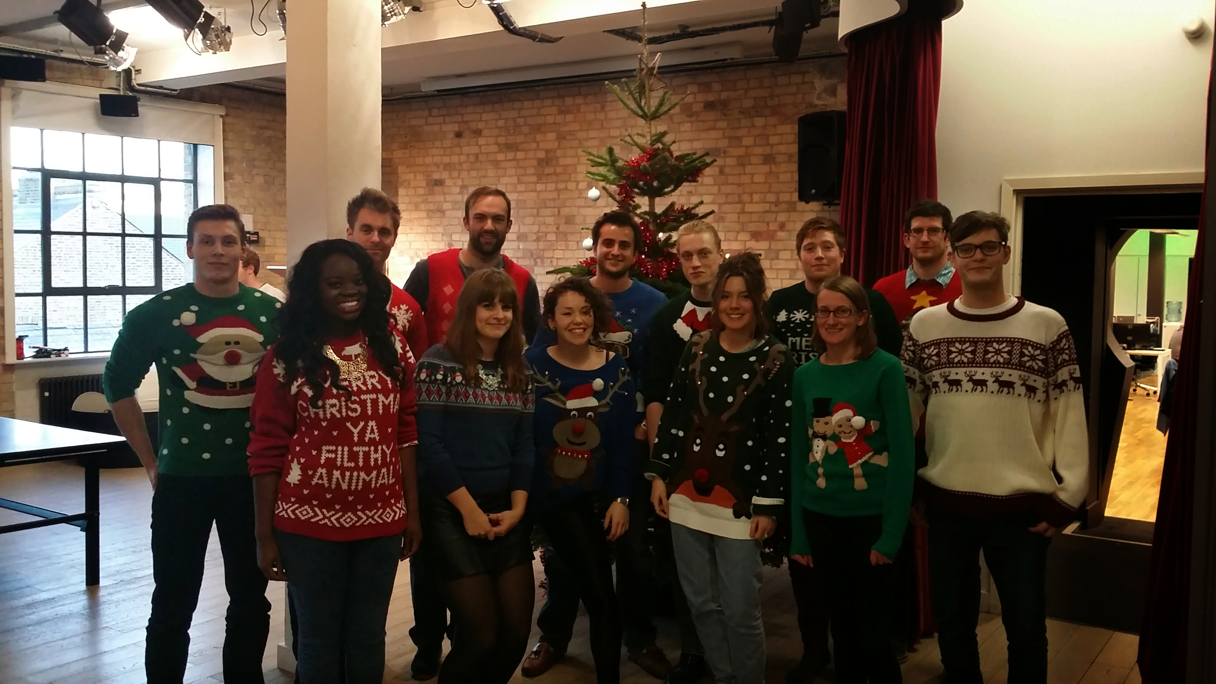 Christmas Jumper Day 2014 - our staff donated to charity partner of the year Fight for Peace