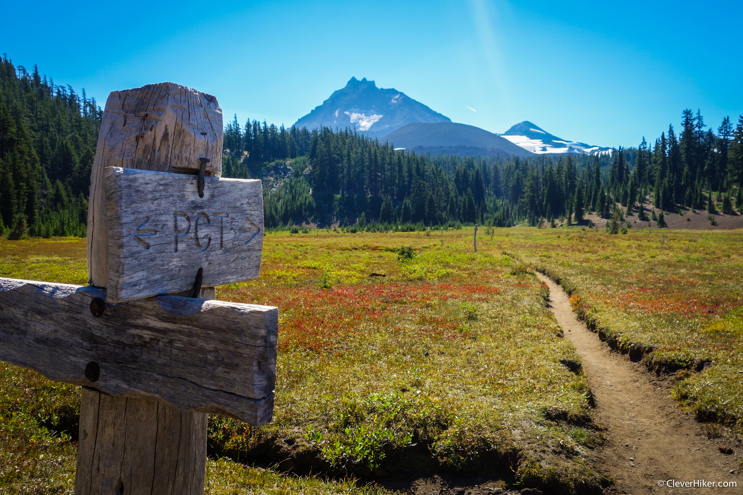 Pacific Crest Trail with North & Middle Sister