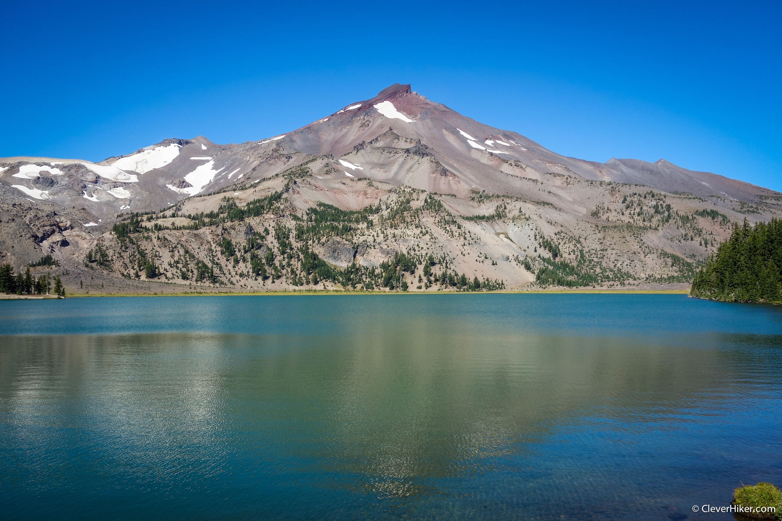 South Sister View from Green Lake