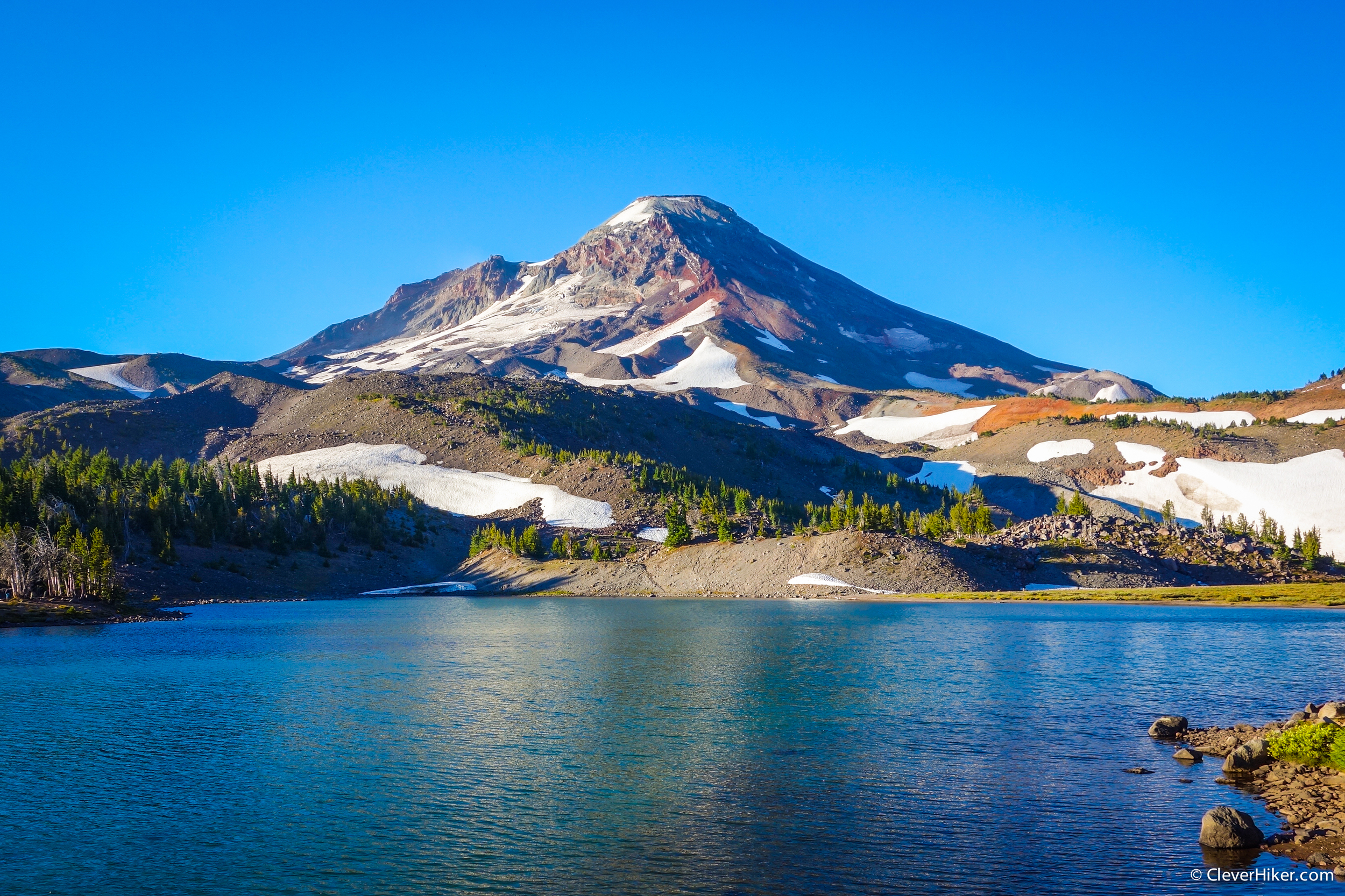 South Sister from Camp Lake