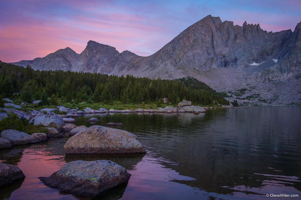 Sunset View - Back Side of the Cirque from Shadow Lake