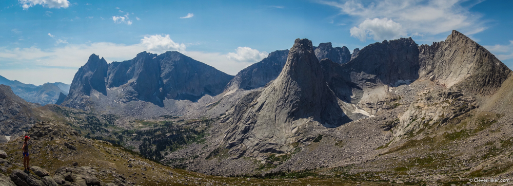 Cirque of the Towers - Panorama from Texas Pass