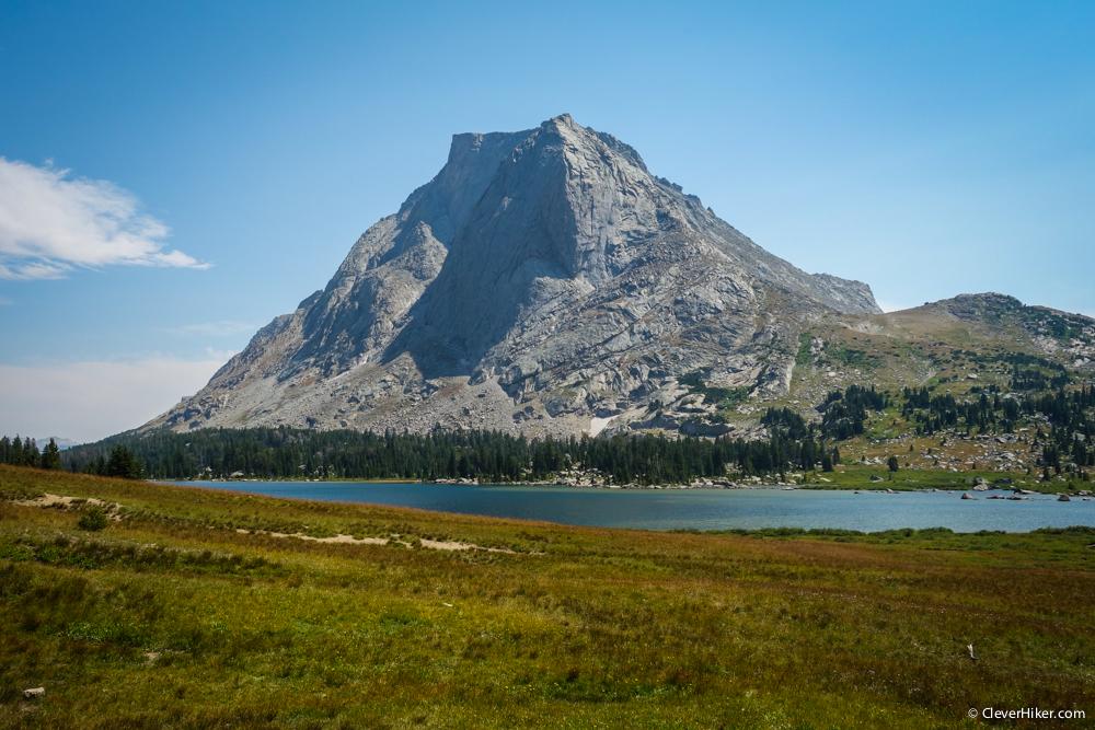 Mitchell Peak behind Lonesome Lake