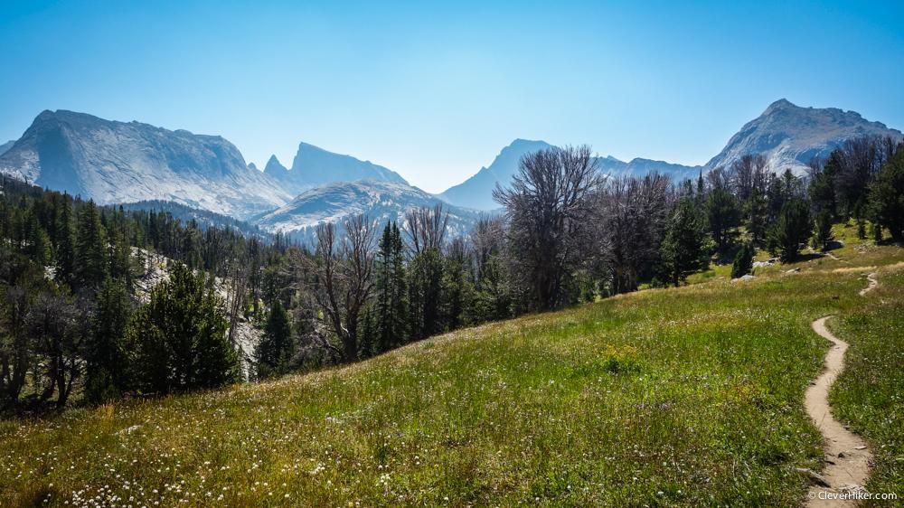 Trail hiking down to Big Sandy Lake