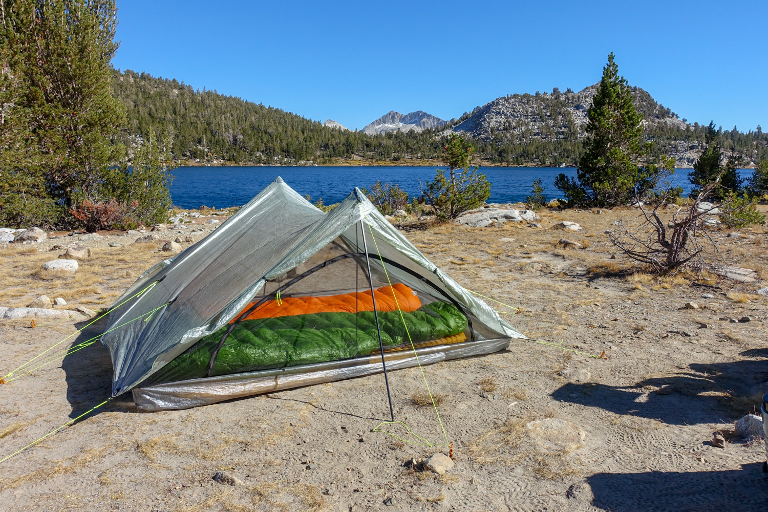 The  WM Versalite  and  FF Egret UL 20  on a late-fall JMT trip