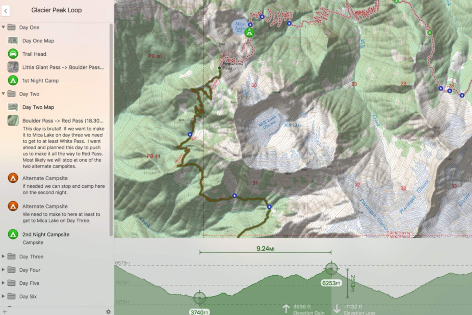 Example of  Topo Maps+  planning capabilities