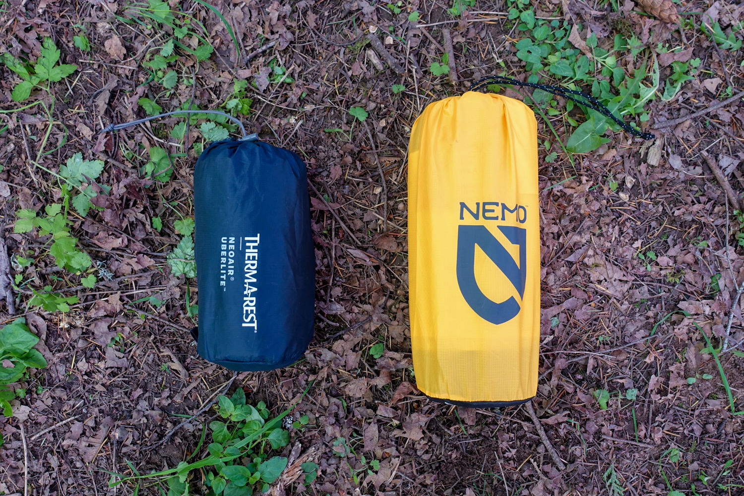 THERM-A-REST  UBERLITE  WIDE/LONG VS. NEMO  TENSOR  WIDE/REGULAR PACKED SIZE