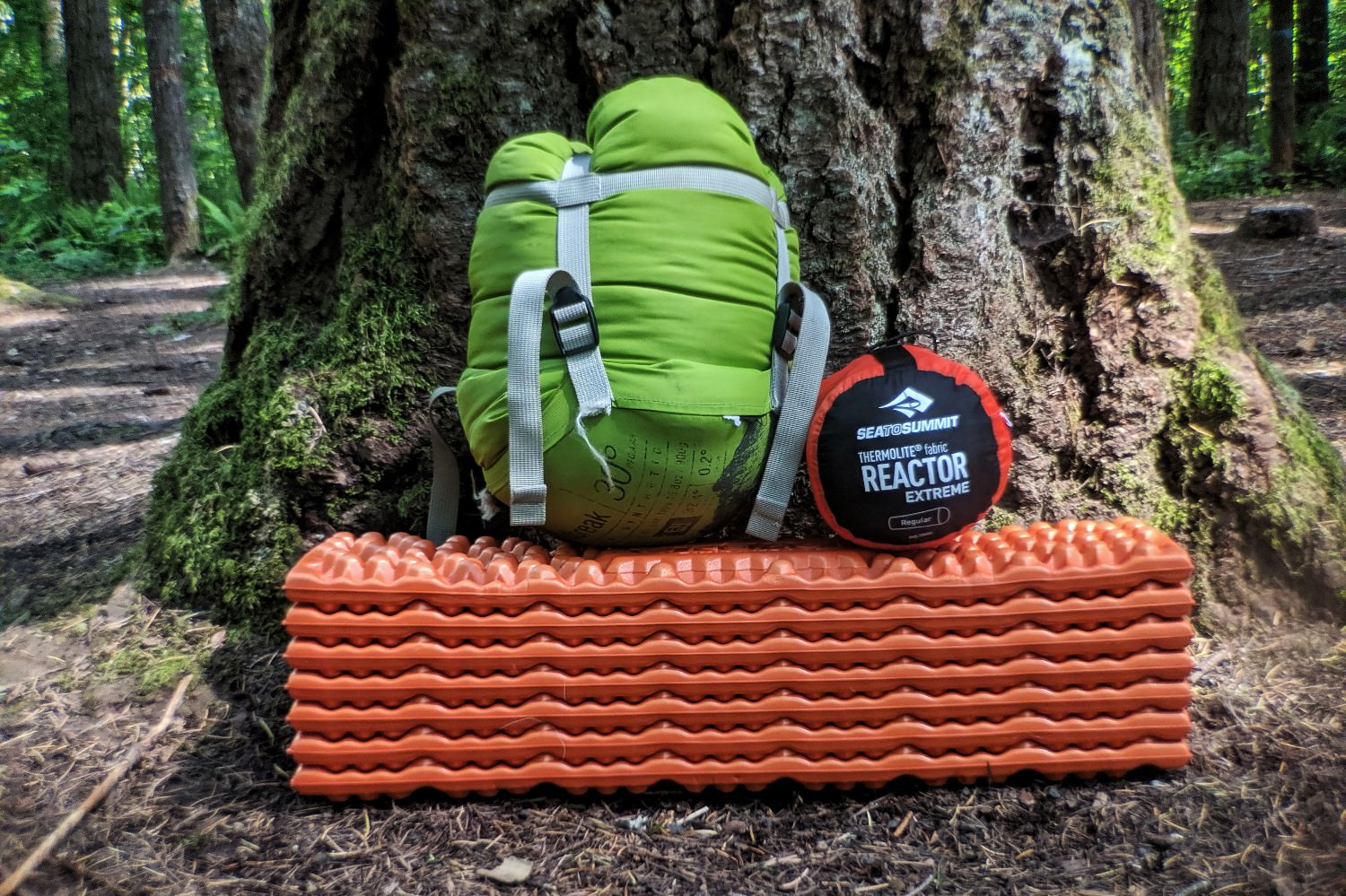 The  Reactor Extreme  liner can add significant warmth to your sleeping bag on cold nights.
