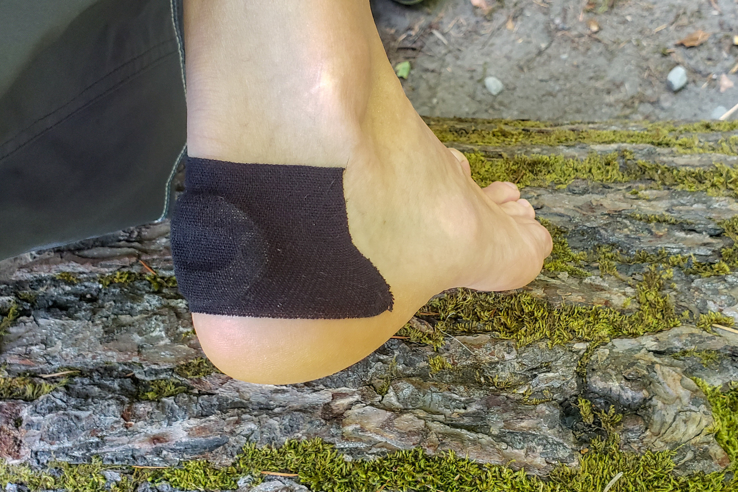 you can use moleskin and kt tape to treat a blister on trail.