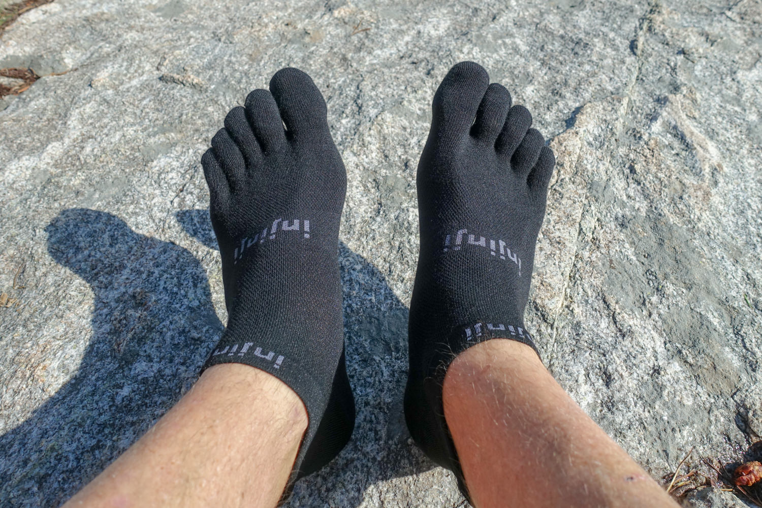 Toe socks, such as the  injinji no-shows , can help prevent toe blisters.